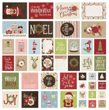 Simple Stories Snap Card Pack 48/Pkg - Holly Jolly