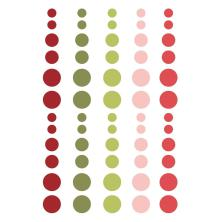 Simple Stories Enamel Dots - Holly Jolly