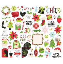 Simple Stories Bits & Pieces Die-Cuts 63/Pkg - Say Cheese Christmas