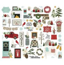Simple Stories Bits & Pieces Die-Cuts 54/Pkg - Winter Farmhouse