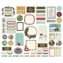 Simple Stories Journal Bits & Pieces Die-Cuts 57/Pkg -  Winter Farmhouse
