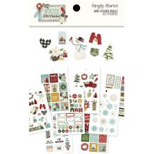 Simple Stories Mini Sticker Tablet 12/Pkg - Winter Farmhouse