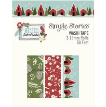 Simple Stories Washi Tape 3/Pkg - Winter Farmhouse