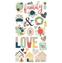 Simple Stories Chipboard Stickers 6X12 - So Happy Together