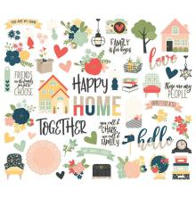 Simple Stories Bits & Pieces Die-Cuts 56/Pkg - So Happy Together