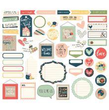 Simple Stories Journal Bits & Pieces Die-Cuts 49/Pkg -  So Happy Together