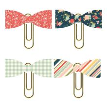 Simple Stories Bow Clips 4/Pkg - So Happy Together