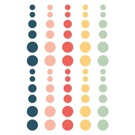 Simple Stories Enamel Dots - So Happy Together
