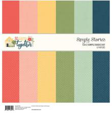 Simple Stories Basics Double-Sided Paper Pack 12X12 6/Pkg - So Happy Together