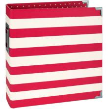 Simple Stories Snap Designer Binder 6X8 - Red Stripe