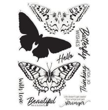 Crafters Companion Clear Stamp - Majestic Butterfly