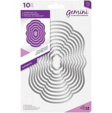Gemini Elements Metal Die - Stitch Edge Oval 2