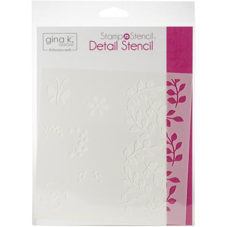 Gina K Designs Stencil 6X6 - Petals & Wings