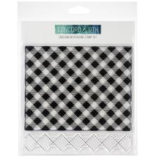 Concord & 9th Clear Stamps 6X6 - Gingham Background