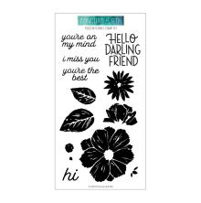 Concord & 9th Clear Stamps 4X8 - Filled In Florals