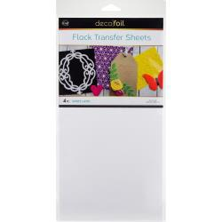 Deco Foil Flock Transfer Sheets 6X12 4/Pkg - White Latte