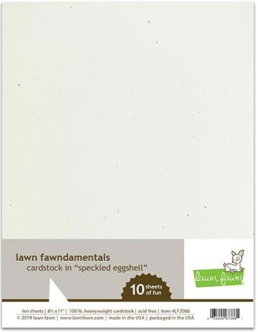 Lawn Fawn Cardstock - Speckled Eggshell