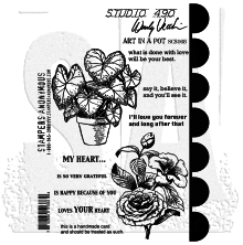 Wendy Vecchi Cling Stamps - Art In A Pot