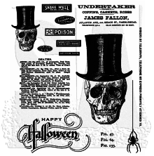 Tim Holtz Cling Stamps 7X8.5 - Undertaker