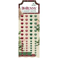 BoBunny Enamel Dots 56/Pkg - Christmas Treasures