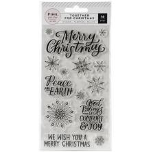 Pink Paislee Acrylic Stamps - Together For Christmas