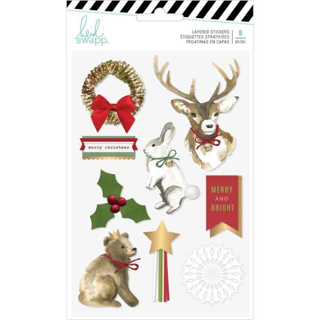 Heidi Swapp Layered Stickers 9/Pkg - Winter Wonderland