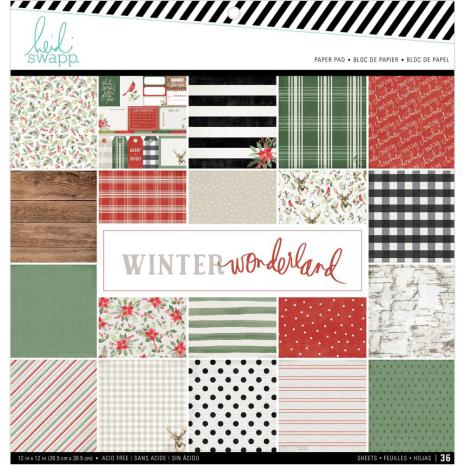 Heidi Swapp Single-Sided Paper Pad 12X12 36/Pkg - Winter Wonderland