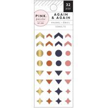 Pink Paislee Enamel Shapes 73/Pkg - Again & Again
