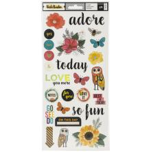 Vicki Boutin Wildflower & Honey Stickers 6X12 49/Pkg - Accent & Phrase