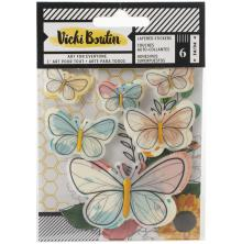 Vicki Boutin Wildflower & Honey Layered Stickers 6/Pkg - Vellum Butterflies