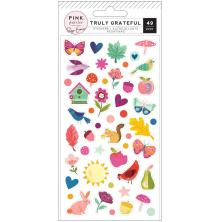 Paige Evans Truly Grateful Puffy Stickers 49/Pkg - Icons