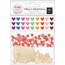 Paige Evans Mixed Embellishments 287/Pkg - Truly Grateful