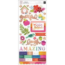 Paige Evans Truly Grateful Cardstock Stickers 5.5X12 2/Pkg - Accents & Phrases