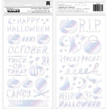 Crate Paper Hey Pumpkin Thickers Stickers 131/Pkg - Hocus Pocus Phrase & Icons