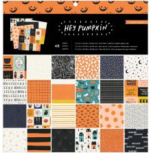 Crate Paper Single-Sided Paper Pad 12X12 48/Pkg - Hey Pumpkin