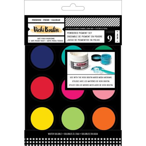 Vicki Boutin Mixed Media Powder Pigment Set 9/Pkg - Assorted Colors
