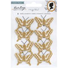 Maggie Holmes Cardstock Butterflies 8/Pkg - Heritage