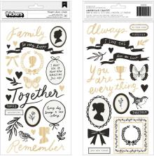 Maggie Holmes Heritage Thickers Stickers 56/Pkg - Heartfelt Phrase & Icons