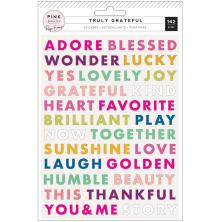 Paige Evans Truly Grateful Puffy Stickers 142/Pkg - Words