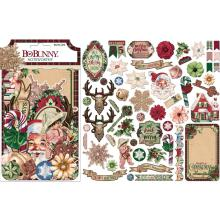 BoBunny Noteworthy Die-Cuts 55/Pkg - Christmas Treasures