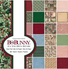 BoBunny Single-Sided Paper Pad 12X12 48/Pkg - Christmas Treasures