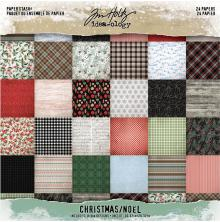 Tim Holtz Idea-Ology Double-Sided Paper Pad 8X8 24/Pkg - Christmas