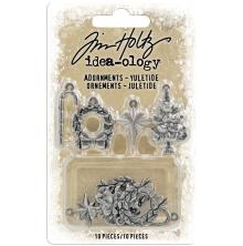 Tim Holtz Idea-Ology Metal Adornments 10/Pkg - Yuletide