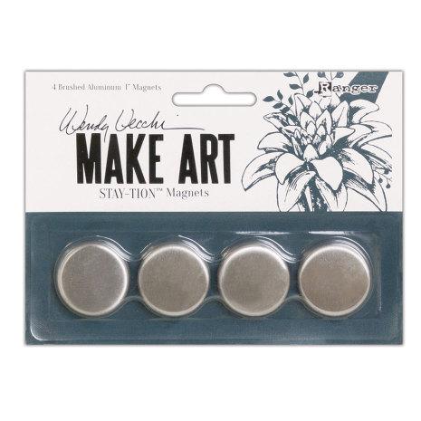 Wendy Vecchi Make Art Stay-tion 4/Pkg - Magnets