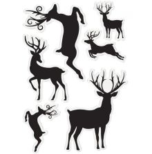Sara Davies Enchanted Christmas Acrylic Stamp - Simply Stags