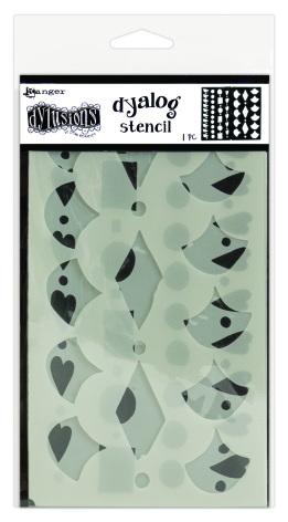 Dylusions Dyalog Stencil -Border It Too