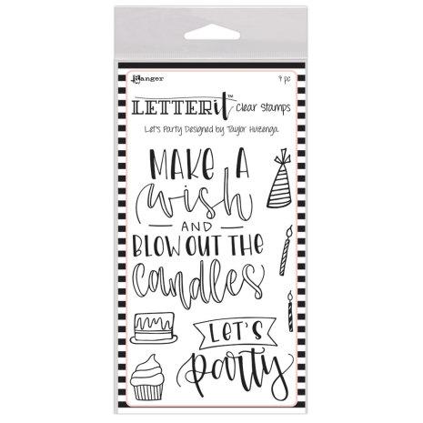 Ranger Letter It Clear Stamp Set 4X6 -Let´s Party