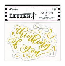Ranger Letter It Die Cuts 12/Pkg - Set 1