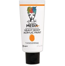 Dina Wakley Media Heavy Body Acrylic Paint 59ml - Tangerine