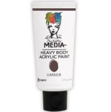 Dina Wakley Media Heavy Body Acrylic Paint 59ml - Umber